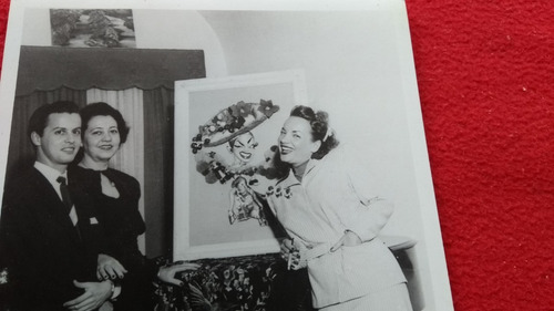 carmen miranda foto de colecionador 15x12 cm