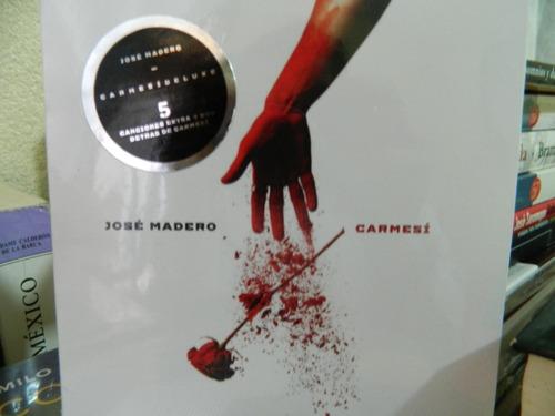 carmesí deluxe - josé madero - cd + dvd (18 canciones)