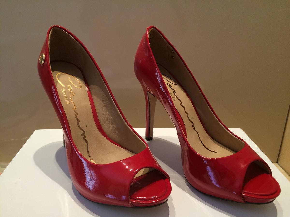 7b62435fe Carmim Sapato Vermelho 35 Novo!!! Salto 11,5cm - R$ 110,00 em ...
