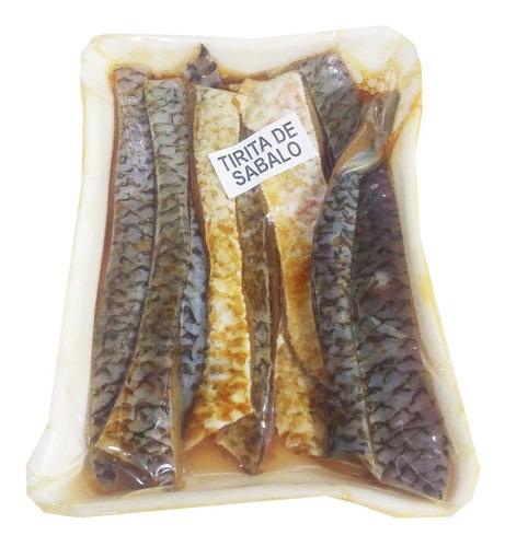 carnada tiritas de sabalo saborizada envasada al vacío