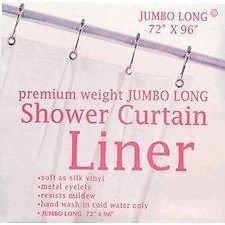 GoodGram Jumbo Long Heavy Weight Super Clear Shower Liner 96 Long By Carnation Home GoodGram® SC-JUMBO//26