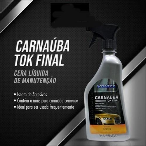 carnaúba tok final cera líquida de manutenção (500ml)