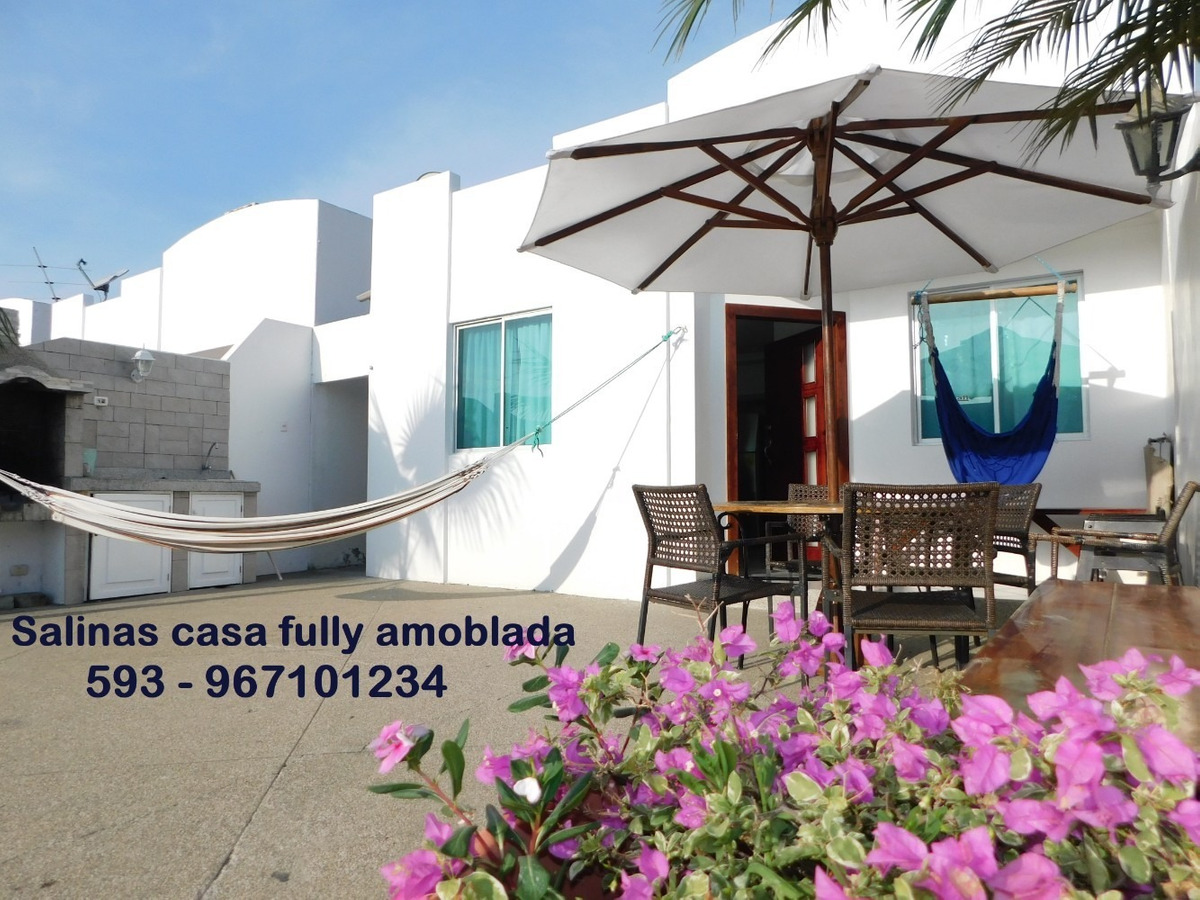 carnaval  $850 salinas alquiler casa playa amoblada piscinas