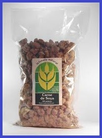 carne de soya en empaque de 1/2 kilo (500 g.) a s/9.80