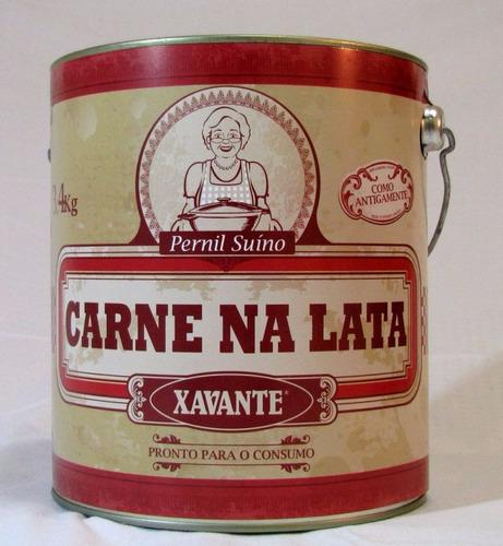 carne na lata xavante 3,4kg