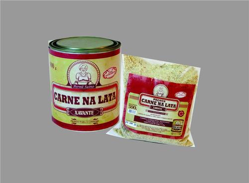 carne na lata xavante 900g + paçoca de carne na lata