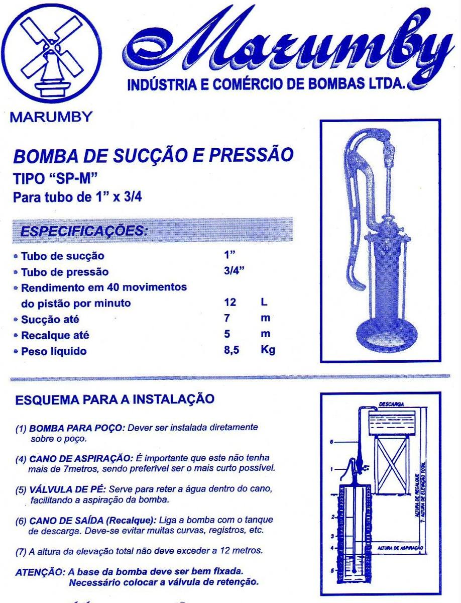 Carneiro bomba para agua manual autentica marumby r - Bomba manual de agua ...