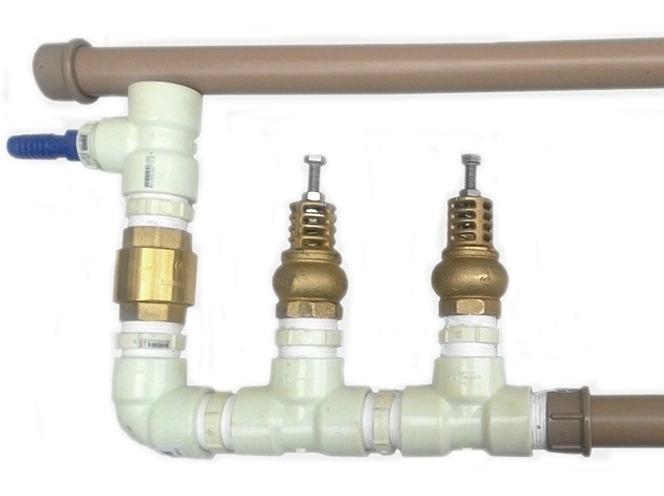 Carneiro Hidraulico Duplo 1 Pl Pvc Globo Rural Bomba Agua R
