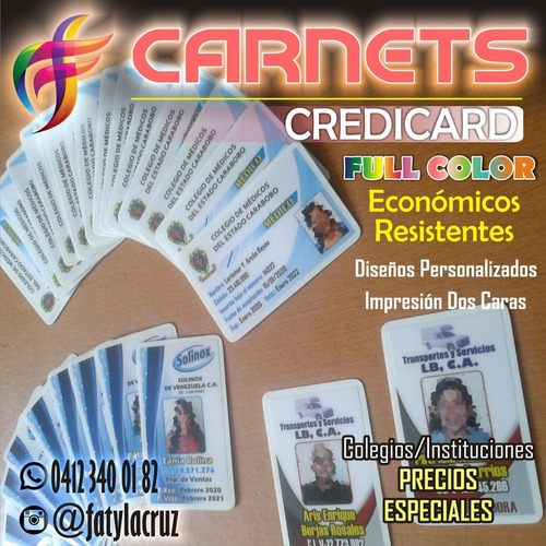 carnet credicard impresión