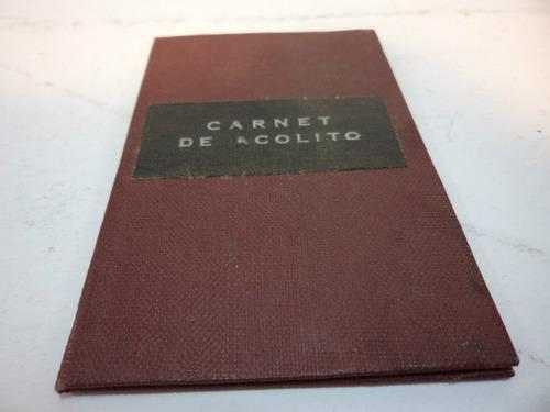 carnet de acolito vida nueva, 1950