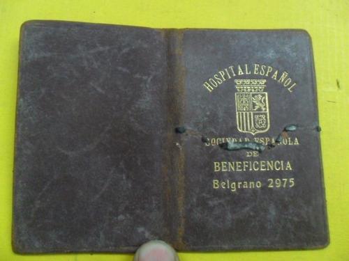 carnet hospital español sociedad española beneficencia1934