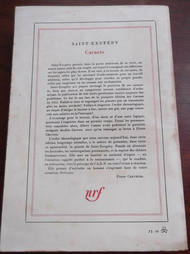 carnets por antoine de saint exupery gallimard en frances
