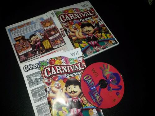carnival games juego wii usado en buen estado