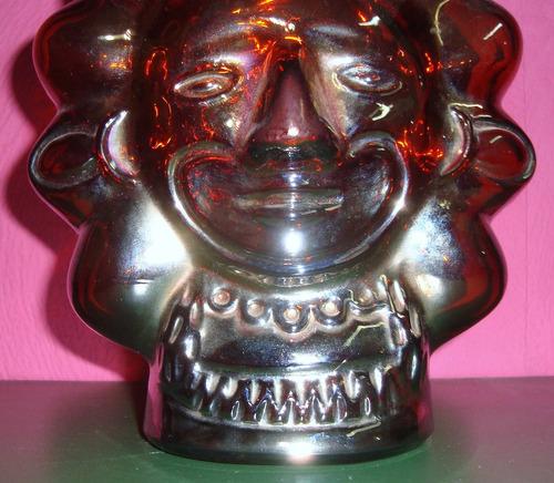 carnival glass - huaco peruano con diseño azteca