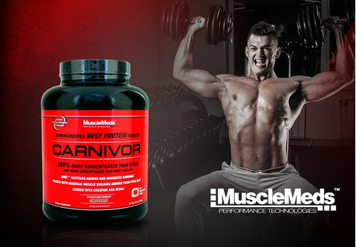 carnivor 4.5 libras musclemeds proteina de carne sin lactosa