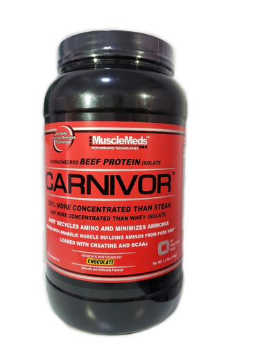 carnivor beef protein - chocolate (1044g) - muscle meds