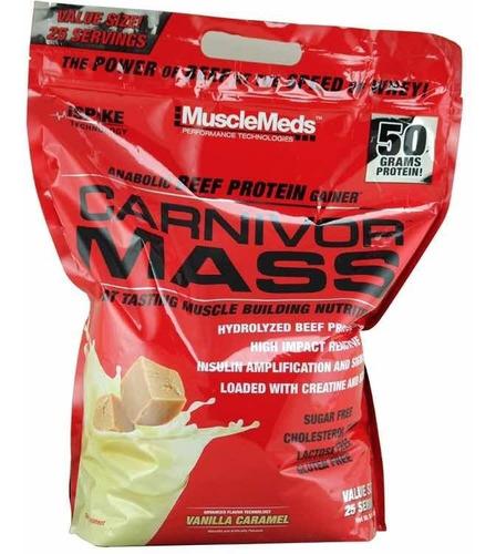 carnivor mass 10lb - musclemeds + envío gratis