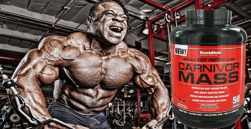 carnivor mass 5.6lb musclemeds ganador de peso fitness  gym