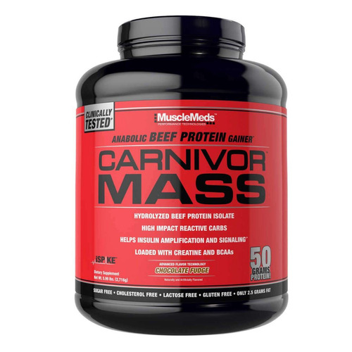 carnivor mass 5.9 lb musclemeds (ganador de peso, creatina)