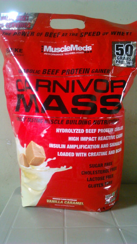 carnivor mass proteína 10 libras musclemeds