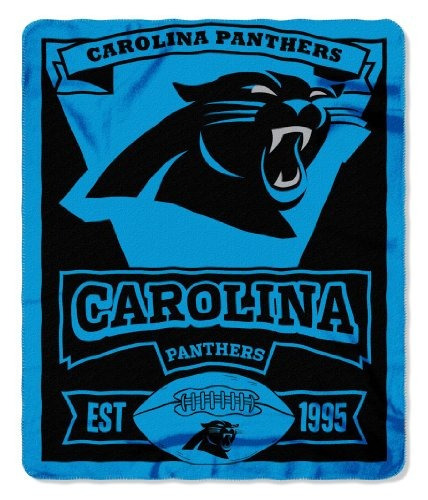 carolina panthers nfl marque impreso throw paño grueso y su