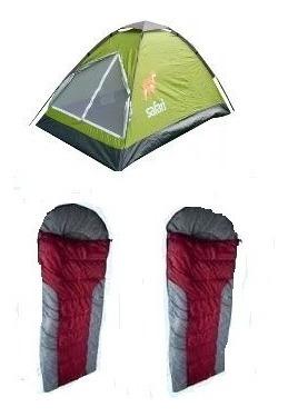 carpa 2 personas + 2 sacos de dormir oferton !!