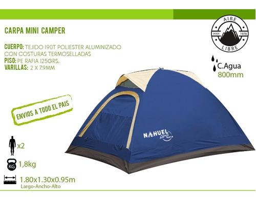 carpa 2 personas iglu camping mini camper nahuel verano