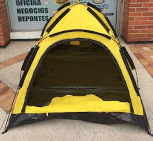 carpa 3 personas acampar playa excursión  montaña nuevas.