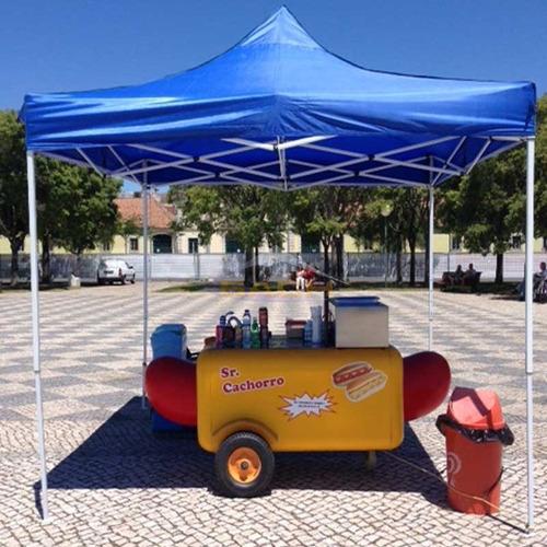 carpa 3x3 estructura reforzada para carro ferias playa y mas