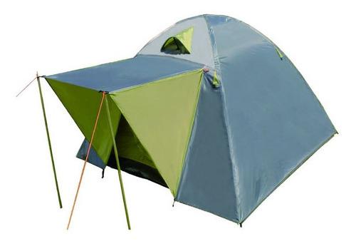 carpa 4 personas c/techo colchon 2 plazas inflador almohadas