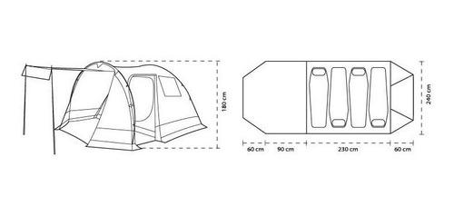 carpa 4 personas spinit confort alero comedor camping