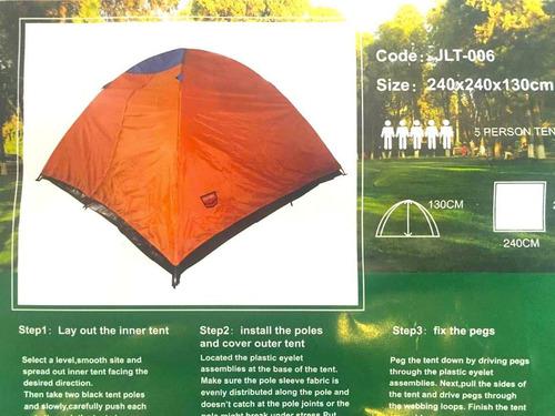 carpa 5 personas acampar playa excursión montaña nuevas.