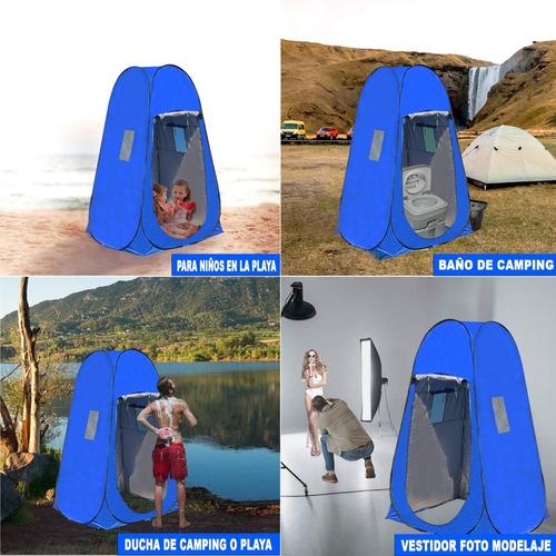 carpa baño vestidor autoarmable para inodoro portátil