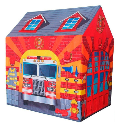 carpa bomberos casita infantil nene play10 jugueterialeon