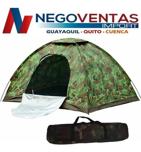 carpa camping estilo camuflaje 2x2 para 4 personas