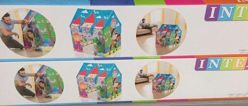carpa casa intex en pvc vinil para niños y niñas