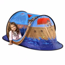 carpa casita infantil niños niña barco pirata autoarmable