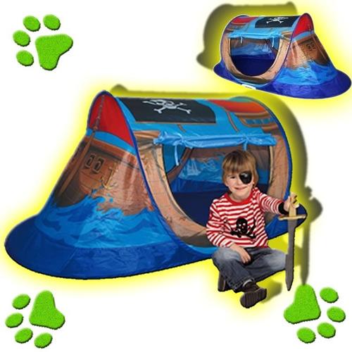 carpa casita infantil plegable barco pirata juego para niños
