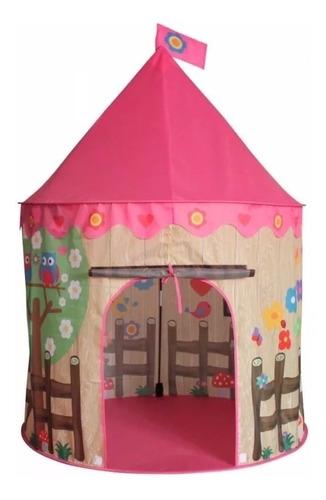 carpa castillo princesa del bosque niña jardín  + 50 pelotas