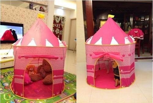 carpa castillo princesa niña camping casa +obsequio