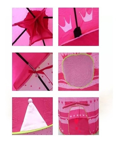carpa castillo princesas casa jardin patio imaginacion rosad