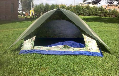 carpa con sobrecarpa sobre carpa para 3 personas camping