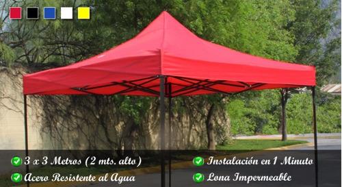 carpa de 3x3 metro impermeable estructura plegable reforzada