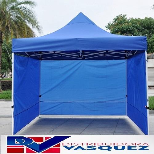 carpa de 3x3 mts impermeable con paredes estructura plegable