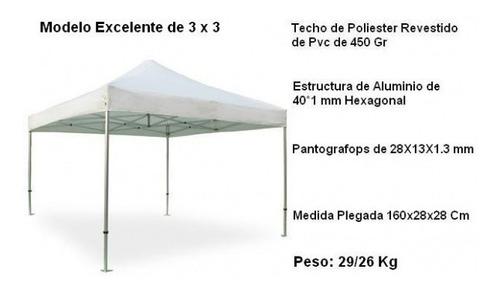 carpa de 3x6 metro impermeable estructura reforzada plegable
