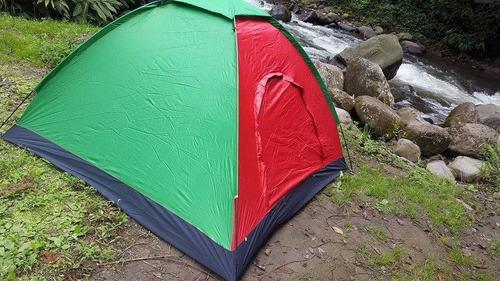 carpa de camping camuflada y colores 4 personas impermiable