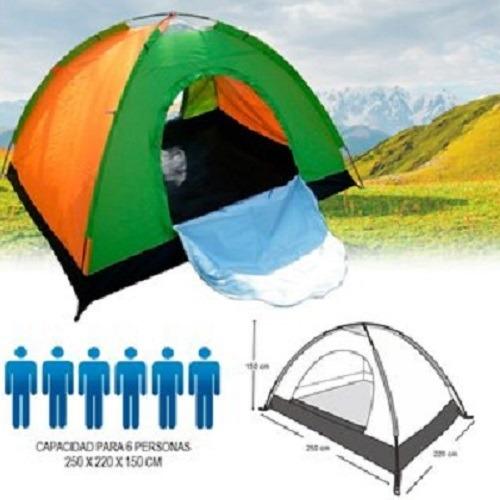 carpa de camping full para 6 personas impermiable reforzada