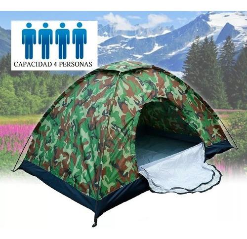 carpa de camping para 4 personas impermeable reforzada
