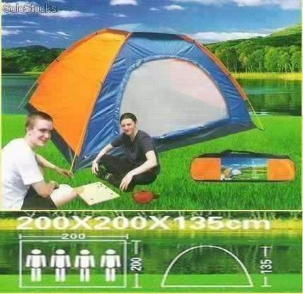 carpa de camping para 4 personas impermiable