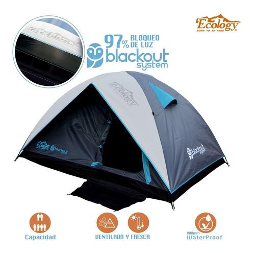 carpa doble tendido blackout facil armado 4 personas camping